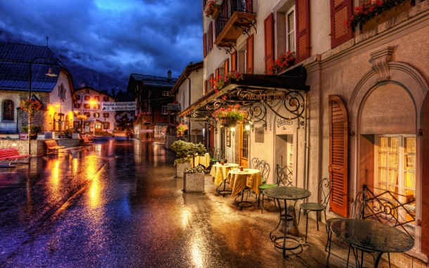 romantic-street-on-a-rainy-night-in-zermatt-switzerland