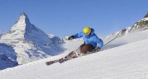 Glacier skiing in Zermatt, Switzerland