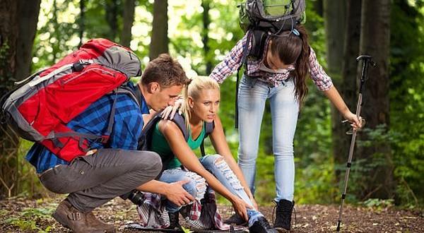 Injuries during hiking
