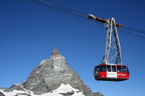 Zermatt by cable car