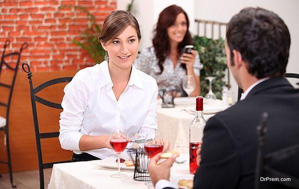 couple enjoying meal